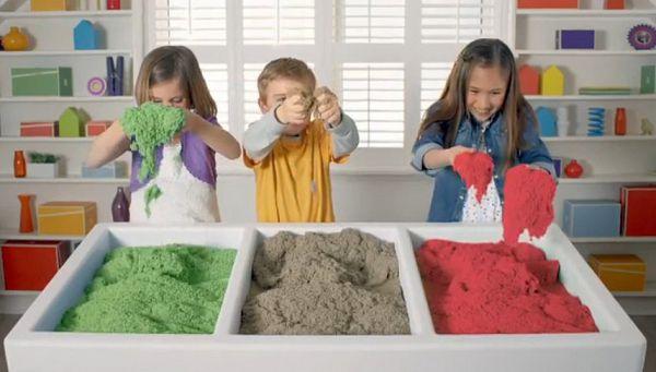 Кинетический песок для детей своими руками в домашних условиях 70