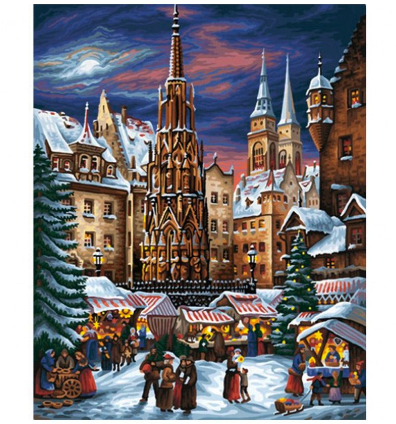 Рождественская раскраска по номерам