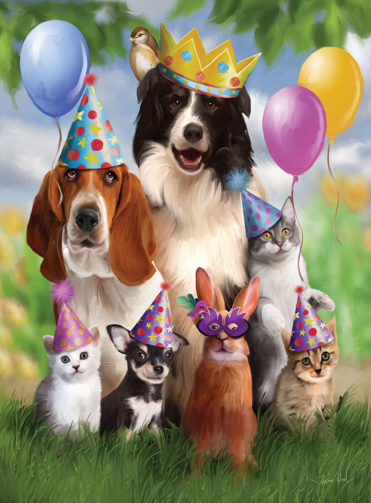 Поздравительная открытка с днем рождения собаке
