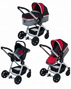Коляска 3 в 1 Foppapedretti Bikini Travel System red